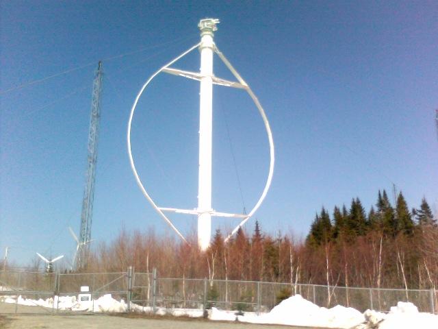 Éole Darrieus Wind Turbine, Cap-Chat, Québec, Canada