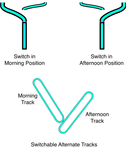Switchable Alternate Tracks
