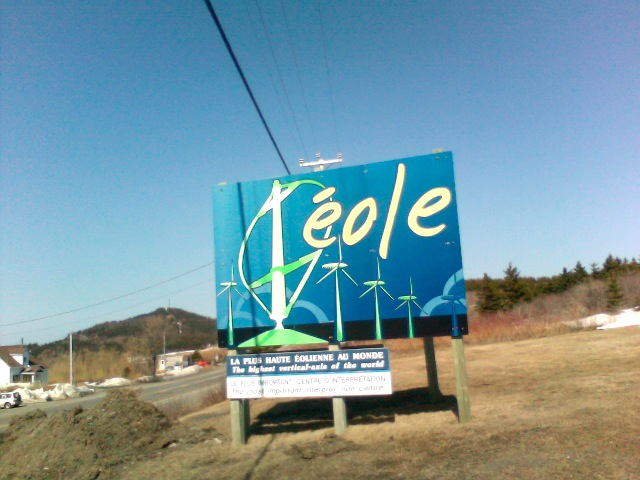 Éole, sign at entrance